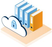 Encrypted cloud icon